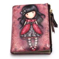 Wholesale Vebin Girls Purse Genuine Leather Wallets Cartoon character Patter leather wallet tide cute lady cartoon Best Gift