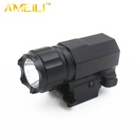 Wholesale LM Mode XML L2 LED M Gun Flashlight Torch Flash Light with Quick Release Weaver Mount CR2 battery For Picatinny rail