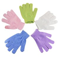 bathroom resistance - Shower Gloves Scrubber Exfoliating Back Scrub Glove Skid Resistance Body Massage Sponge Wash Skin Spa Foam Bath Glove Bathroom