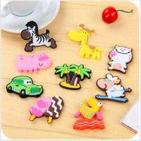 Wholesale Cute Cartoon Animal fridge magnets whiteboard sticker Silicon Gel Refrigerator Magnets Kids gift
