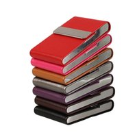 Wholesale PU Leather Cigarettes Card Case Classical Metal Cigarette Tobacco Box Smoking camping hiking tool