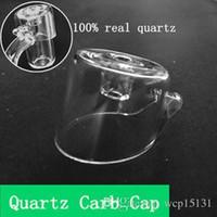 DHL Quartz Carb Cap Fit 4mm Banger Quartz Cap N ° Domeless Quart pour bouchon de 20mm de diamètre 22mm Banger Dab Nail Carb Caps Oil Rigs