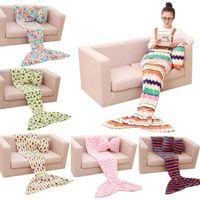 baby room fabric - Kids Mermaid Children Sleeping Bag Baby Soft Mermaid Tail Blanket For Nap Sofa Bedding Living Room Bedroom Blankets E3