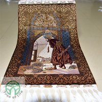 artificial silk rugs - 2 x3 Factory Carpet Artificial Silk Muslim Prayer Rugs and Carpet Tapestry For Wall