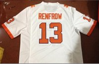 Wholesale Men Hunter Renfrow Clemson Tigers Replica Orange Alumni jersey