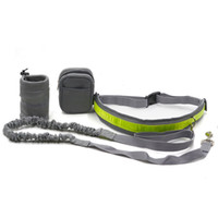 dog collars and leashes - Outdoor sport PET supplies suit pieces Pet Telescopic Leash Adjustable waist belt Dog training bag cell phone and keys pockets