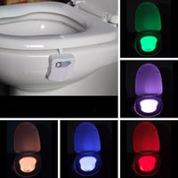 Wholesale Motion Activated Toilet Night Light Colorful Toilet Lamp Bathroom Human Body Auto Motion Sensor Seat LED Night Lights Color Changing