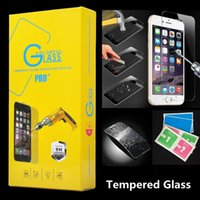 Wholesale 2 D H Tempered Glass Screen Protector Film mm for Iphone s s Plus plus Samung S6 HTC LG Sony MOTO Huawei with Paper Package