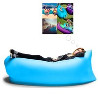 Wholesale Inflatable Air Bed Bag Sofa Fast Portable Outdoor Beach Camping Sleeping Lounger Filled Balloon Bed Sleep Chair For Outdoor Activity Picnic