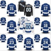 bay point - Tampa Bay Lightning Jersey Men s Michael Bournival Alex Killorn Ondrei Palat Brayden Point J T Brown Hockey Jerseys