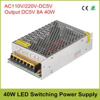 aluminum display cases - Output DC5V W Switching Power Supply Input AC110V V to DC5V A Driver Transformer Aluminum Case for LED Display LED Lighting