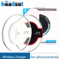 оптовых qi charger-2017 новый роскошный Ци Беспроводное зарядное устройство для зарядки для Samsung S6 Края s7 края Фантазия High Efficiency площадку для Samsung Mobile с розничным пакетом