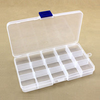 Wholesale Slots Adjustable Grid Multi Function Tools Jewelry Box Storage Beads Tool Boxes Electronic Plastic Screw Case PP Transparent