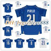 Soccer Boys Short 16 17 kids Italy Home blue soccer Jersey Kits 2017 Italia ZAZA INSIGNE EL SHAARAWY PIRLO VERRATTI MARCHISIO Away white child Football Shirt
