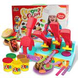 best gifts for cooks - Color Clay Dough set Funny Children Cooking Hamburger Master Free Tools and Accesseries For Kid the best gift for children