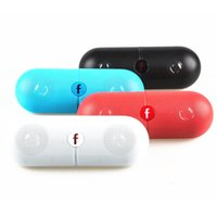 Wholesale Pill XL Bluetooth Speakers Wireless Subwoofer Speaker XL Pill Box with Retail Box Black White Pink Red Blue Colorfor DHL