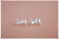 Wholesale 2016 new Exquisite bow lovely women Stud earrings alloy earring gothic cool round fashion jewelry gifts jeffree star bohemian
