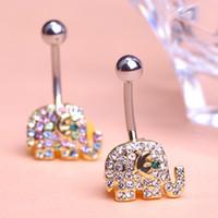 amp body - Fashion Piercing Septum Cute Elephant Navel Amp Bell Button Rings Gold Plated Pircing Ombligo In Body Jewelry For Women Men Vaz