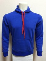 Wholesale 16 blue full sleeve football jackets adult s outdoor leisure soccer coats thailand quality men s winter sports hoodies