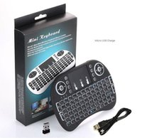 Wholesale Wireless Keyboard i8 Mini keyboards Touch Pad Multi Media Remote Control Touchpad Handheld with Backlight For TV BOX Android Mini PC