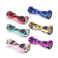 Wholesale Ship From USA Hoverboard Smart Balance Wheel Inch Chrome Two Wheels Electric Scooters Drifting Board Self Balancing Scooter Skateboard
