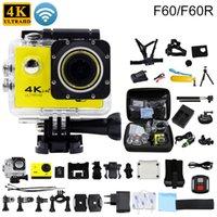 Wholesale F60 F60R Original Action camera K fps MP WiFi D Helmet Cam underwater go waterproof pro Sports camera gopro hero style
