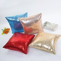 Wholesale Luxurious Sequin Mermaid Sequin Pillow Magical Color Throw Pillow Case Zipper Home Decor Cushion Cover Decorative Pillowcase ZA1501