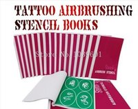 Wholesale BOOKS Temporary Airbrush Tattoo Stencil Template New Booklet total books Designs can be choose