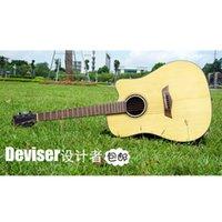 Wholesale Genuine Deviser41 inch spruce wood single folk guitar starter wooden guitar L T50s
