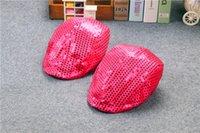 Plain Dyed active drive - 10pcs Sequin Driving Ivy Newsboy Summer Bling Girls Kids Dancing Hat Cap Cabbie Beret hat Party caps