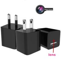 Wholesale 1080P HD USB Wall Charger Hidden Spy Camera Mini Nanny Spy Camera Adapter With GB GB GB Internal Memory