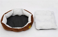 Wholesale Soft Pet Dog Nest Puppy Cat Bed Fleece Warm House Kennel Plush Mat Pet Products Small Dog Bed Supplies P13