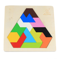 Wholesale Hot Children Wooden Puzzles Toy Tangram Brain Teaser Puzzle Toys Tetris Game Educational Kid Jigsaw Board Toy Gifts