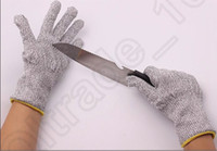 Wholesale Safety Protective Kitchen Cut Slash Resistant Food Contact Safe Anti Cutting Breathable Outdoor Work Glove pair OOA994