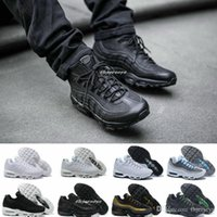 Wholesale 2017 Max Men Running Shoes Mens Retro Cushion White Maxes OG Sport max95 Shoes Authentic Sports s Boots Sneakers Maxes95 Black Grey