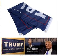Wholesale Donald Trump Flag Make America Great Again ftx5ft Banner D Polyester Flag Metal Grommets x150cm Styles Flags Free Shiipping