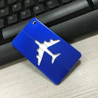 Wholesale Aluminum alloy luggage tag Boarding card creative aircraft luggage tag luggage tag