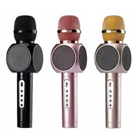 Wholesale E103 Gift Bluetooth Karaoke Microphone Wireless Professional Player speaker KTV With Carring Case For Iphone Android