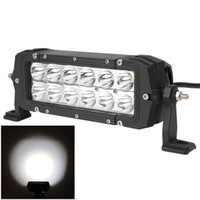 Wholesale 7 Inch V LM W Waterproof LED Car Work Bar Light for Truck Trailer Motorcycle Boat CLT_430