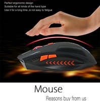 batteries computer mouse - Azzor USB Laser Computer Gaming Wireless Mouse For PC Laptop Built in Rechargeable Battery With Charging Cable