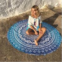 Wholesale Round Mandala Beach Towels Printed Tapestry Hippy Boho Tablecloth Bohemian Beach Towel Serviette Covers Beach Shawl Wrap Yoga Mat