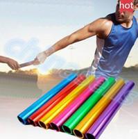 aluminum baton - track and field match Anodized aluminum Official size cm standard adult athletics relay baton running match baton