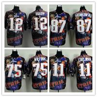 Wholesale Men s Custom Fanatical Edition Football Jerseys Tom Brady Rob Gronkowski Julian Edelman Size S XXXL Drop Free Shopping