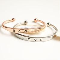 bezel material - New Simple love bracelet Lettering bracelet Environmental protection material bracelets