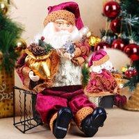 Grossiste-Haute qualité 35cm Noël Assis Père Noël Figurine Poupée Jouet Chambre Décoration Décor Décoration