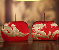 Wholesale Red Wedding Candy box Gold Foil Chinese Dragon and Phoenix Chocolate Box