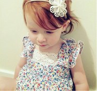 Wholesale 2017 fashion summer one piece Triangle rompers kids girls Lotus floral sleeveless dress baby Clothing Sets rompers Infant Jumpsuit bodysuits