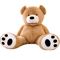 Wholesale quot M Big Teddy Bear Plush Toy Soft Giant Teddy Bear PP Cotton Huge Stuffed Brown Snuggle Bear toys Chrismas Valentine s Gift