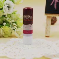 Wholesale Pretty Popular women Waterproof Lipstick Cute Doll Pattern Fruity Smell Lip Cream Lipstick