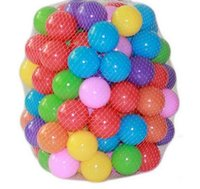 Wholesale 100pcs Eco Friendly Colorful Soft Plastic Water Pool Ocean Wave Ball Baby Funny Toys stress air ball outdoor fun sports